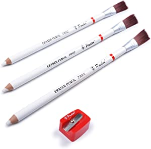 Pasler Eraser pencils 7802 perfection Eraser drawing Pencil with Brush and a Sharpener perfect for sketches and coloured illustrations(4-pcak)