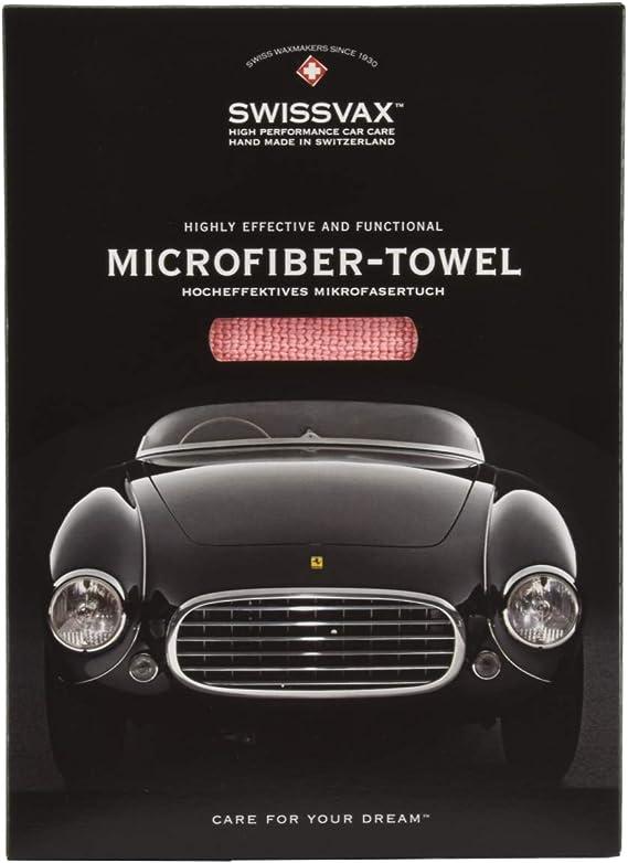Swissvax Micro Absorb Universal Premium Mikrofasertuch Poliertuch 36x40cm Rosa Küche Haushalt