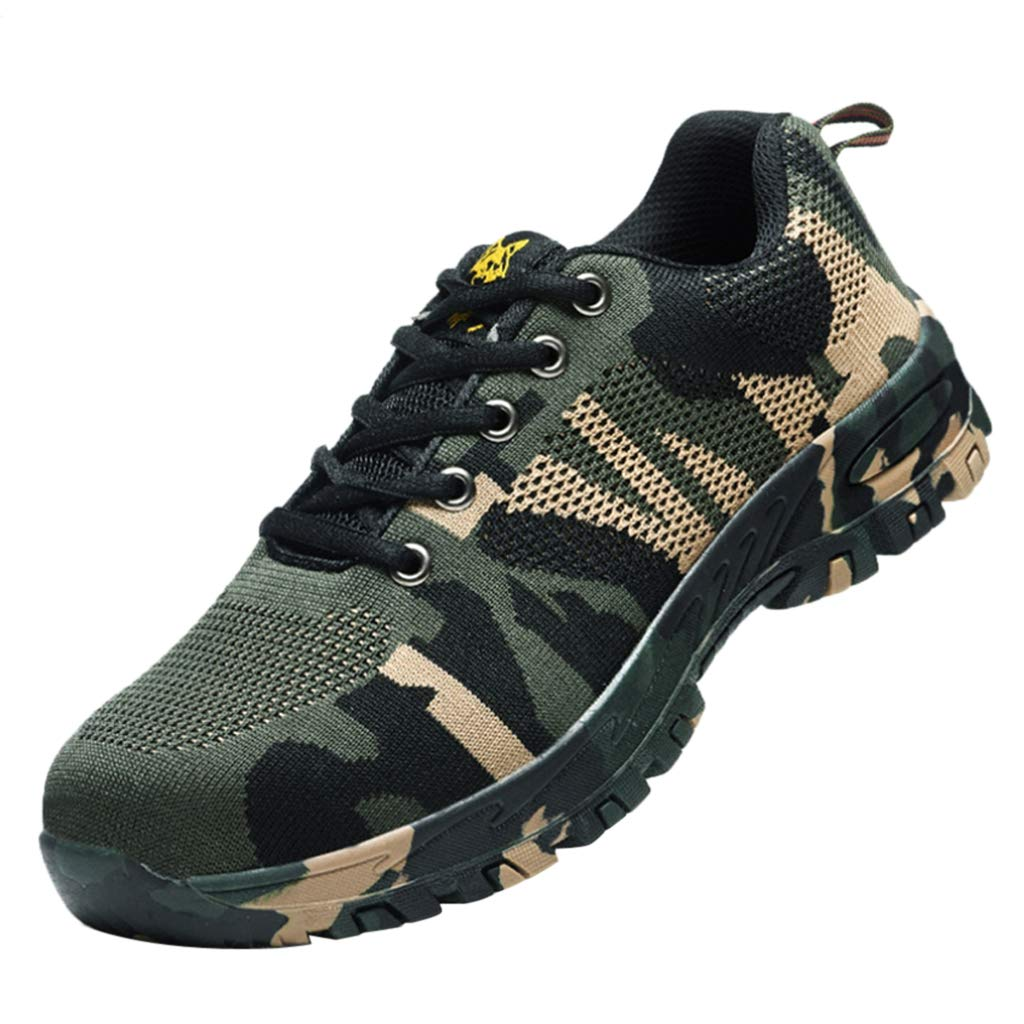 Homyl Steel Toe Camouflage Safety Shoes Work Apparel, construction puncture proof - 275mm