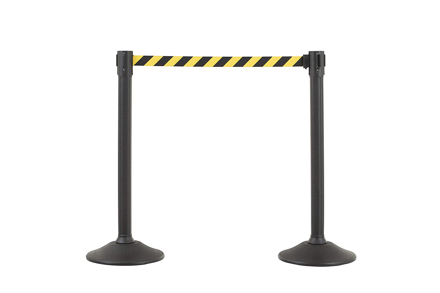 Easy Connect Assembly Requires No Tools US Weight Sentry Stanchion with 6.5 Foot Retractable Belt Chevron Safety Colors 2-Pack