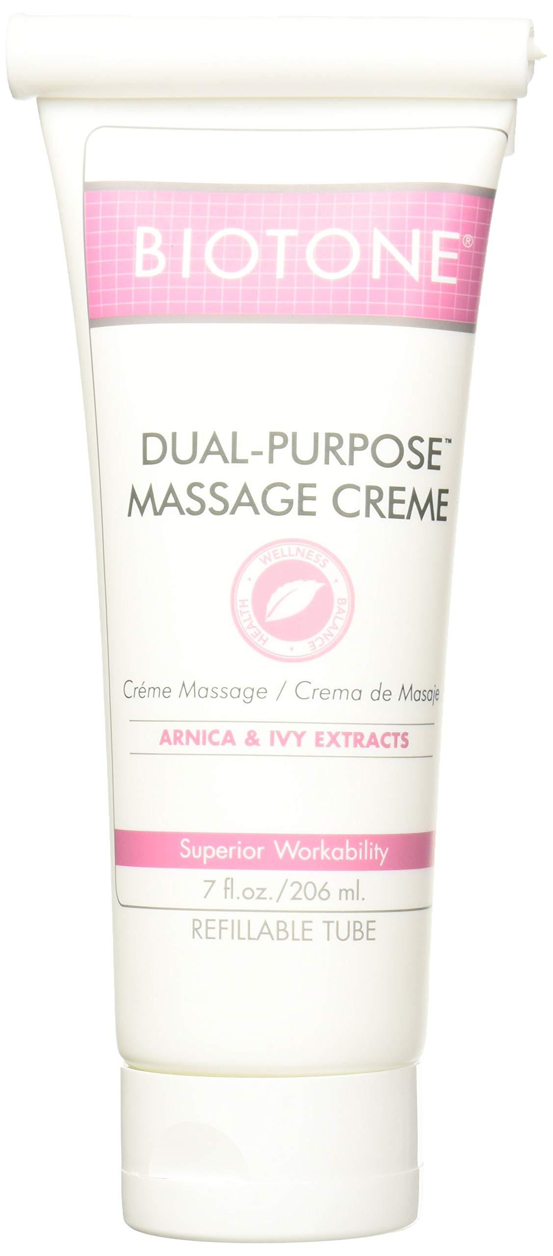 Biotone Dual Purpose Massage Creme 7 oz - Pack of 2 Tubes by Biotone