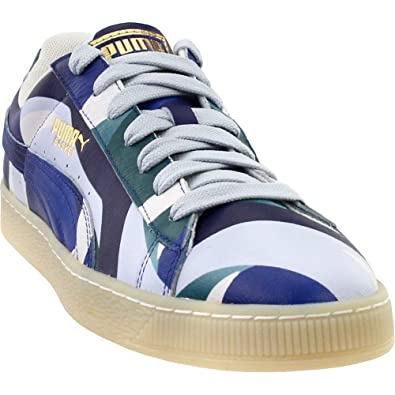 PUMA X Careaux Basket Graphic Twilight Blue Halogen Blue Athletic Shoe  (5.5 5445a8e0a