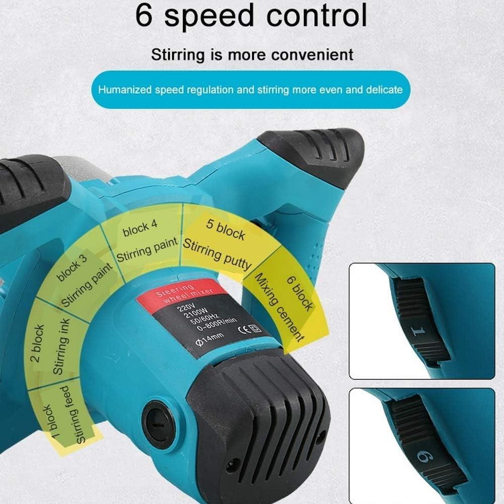 vitesse nominale 0-800 tr//min diam/ètre de la tige de m/élange 14 mm M/élangeur de ciment /électrique m/élangeur de mortier 220V 2100W avec moteur variable /à 6 vitesses