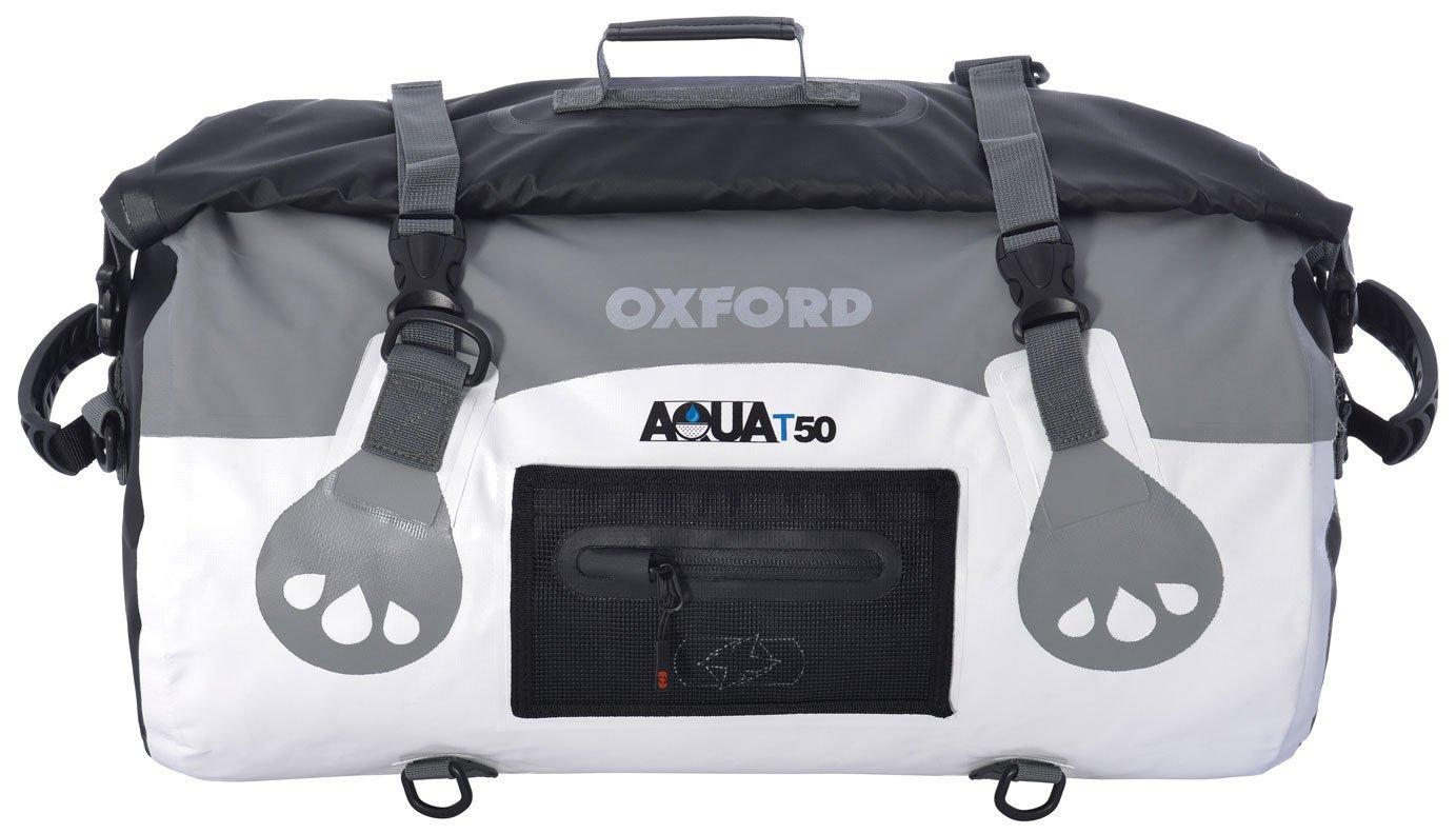 Oxford Moto Aqua T50 impermé able Moto Bagages Capacité : 50 L Blanc Gris OL971