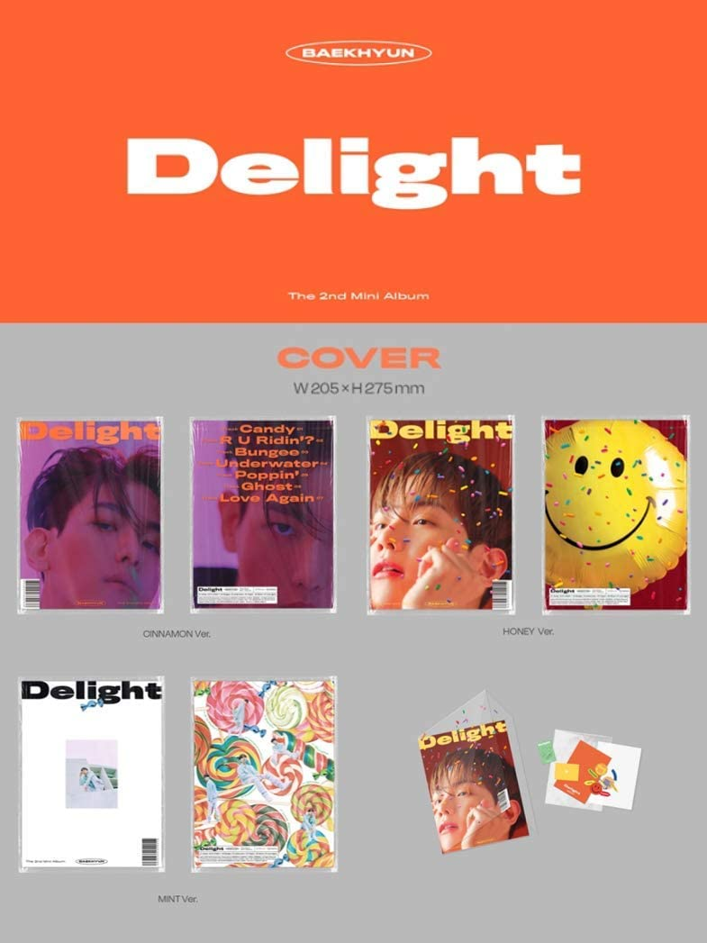 3CD+3Booklet+3Folded Poster+Others with Extra Decorative Sticker Set Pre Order Baekhyun 2nd Mini Album A+B+C ver. Full Set Delight Photocard Set