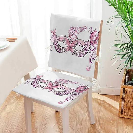 Mikihome - Juego de 2 sillas Decoradas con Adornos para ...