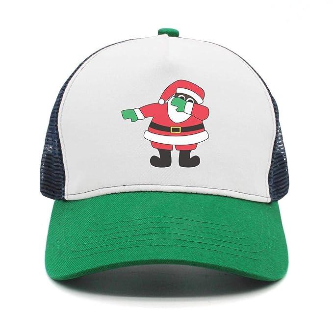 b0f91fae291 ASWEQ Christmas Dabbing Santa Claus Hat Trucker Boys Baseball Team Cap