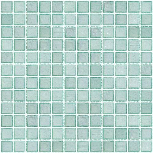 Susan Jablon Mosaics - 1 Inch Transparent Sea Green Glass Tile