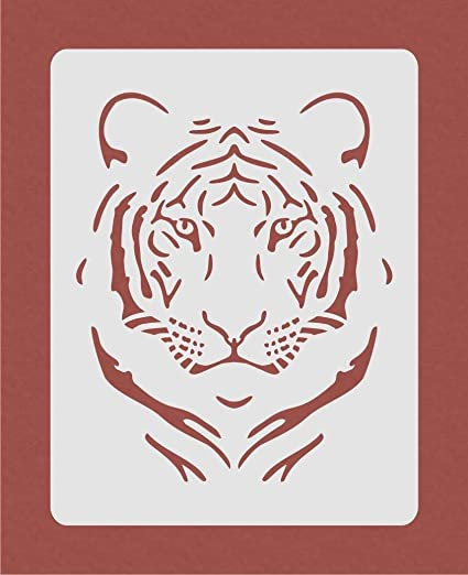 Tiger Stencil For Airbrush Painting Art Craft Diy Home Decor