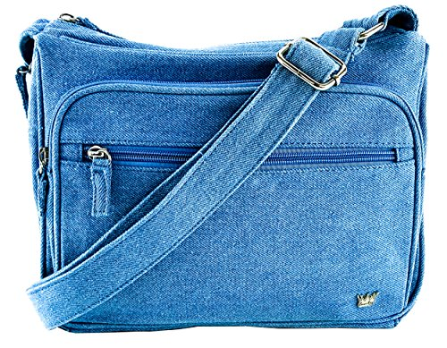 Purse King Magnum Blue Jean Concealed Carry Handbag Jean Handbag Purse