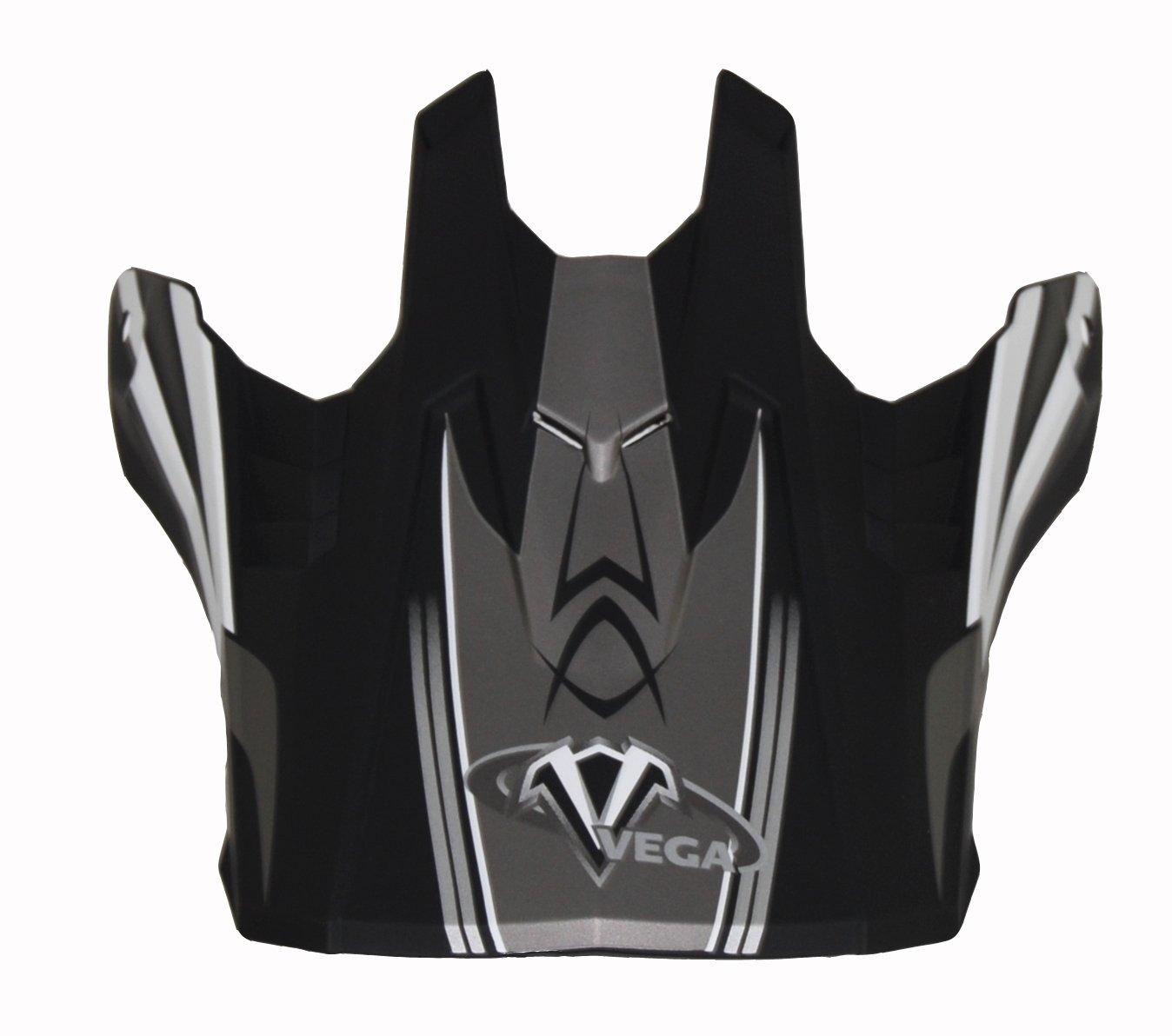 92-392501 Vega Off-Road Helmet Visor with NBX-Pro Sidewinder Graphic Black, Size Adult