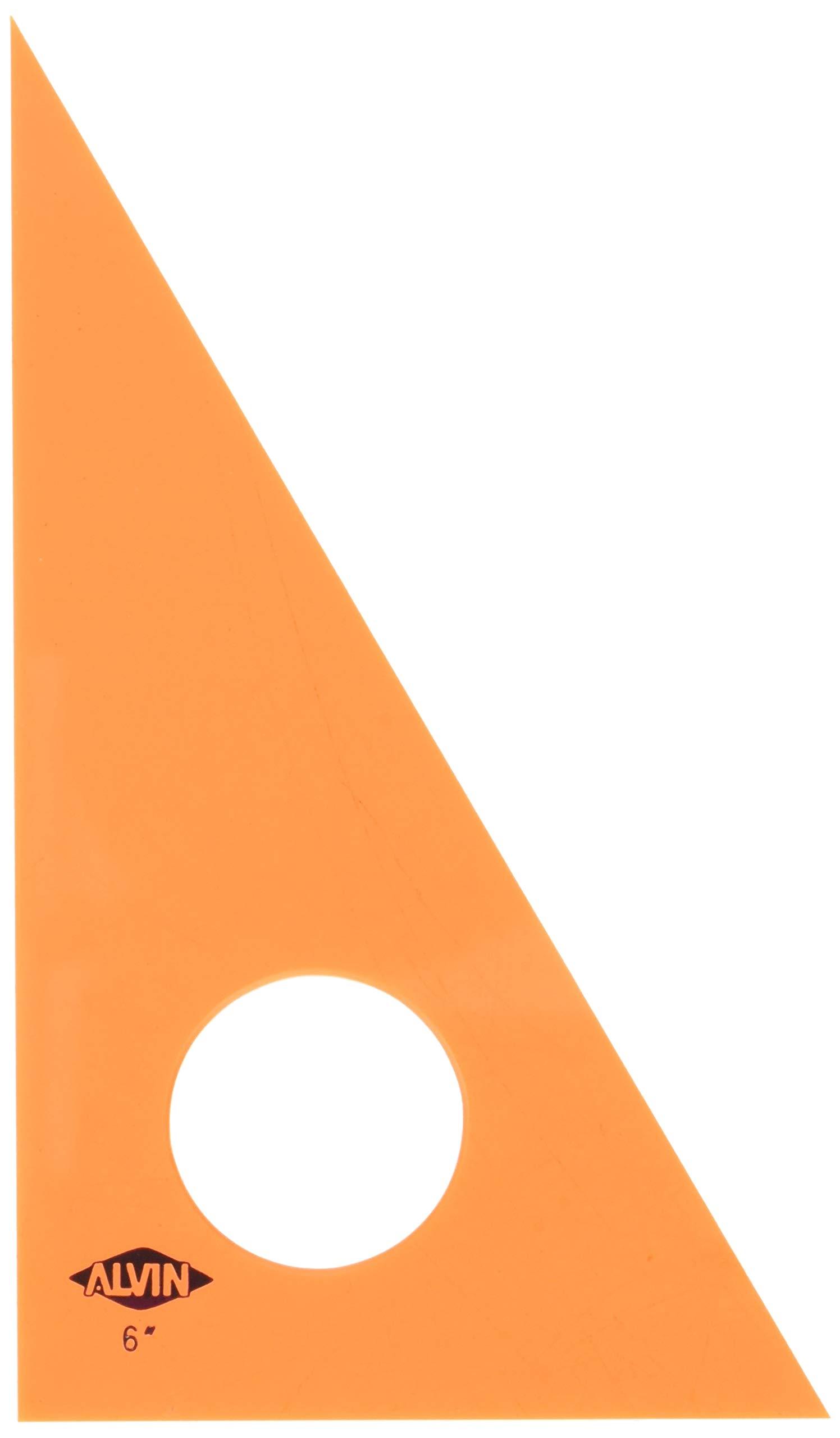 Alvin 130F-6 30-Degree/60-Degree 6'' Fluorescent Professional Acrylic Triangle by Alvin