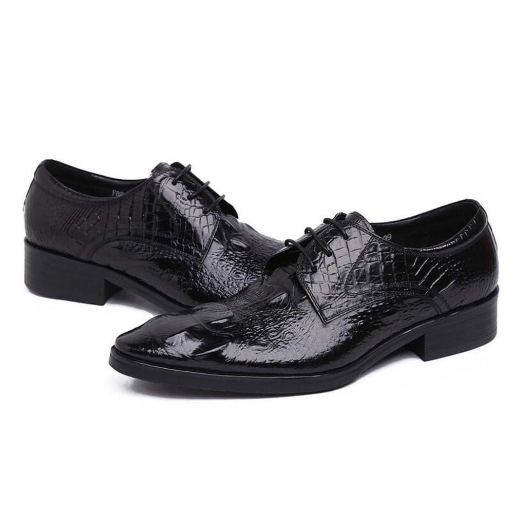 GLSHI Herren Kleid Schuhe Geprägte Spitz Schuhe Hochzeitsschuhe Atmosphäre Mode Mode Mode Neu b59c3d
