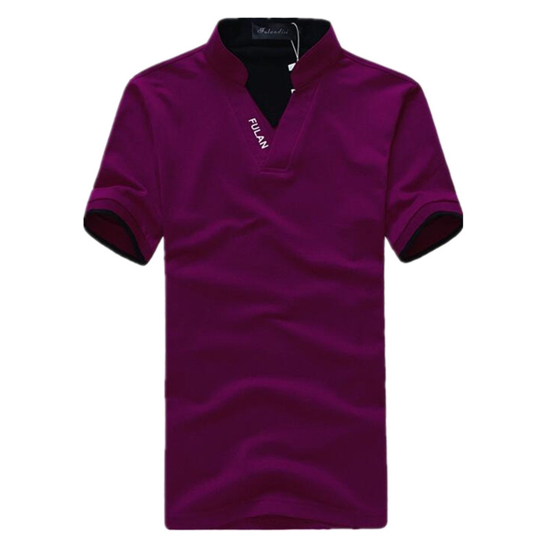Sonjer Men Polo Shirt Summer Fashion Polo Short Sleeve Mens Polo Shirt Breathable Polo Tees S-5Xl