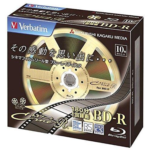 Verbatim Bluray Cinema Reel Video 25GB 4x Speed BD-R Blu-ray Recordable Disk 10 Pack - Ink-jet Printable by Verbatim