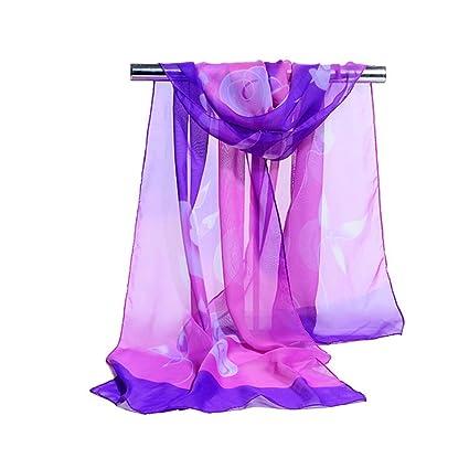 Mysterious Direct Bufanda De Mujer Joker Estampado Sol Chal Fino Toalla De Playa,Purple-