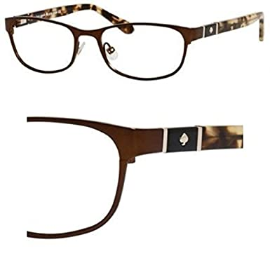 7fc3c8696c Image Unavailable. Image not available for. Color  Eyeglasses Kate Spade  Jayla 05BZ Brown