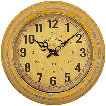 Yosemite Home Decor Circular Iron Wall Clock, Multi