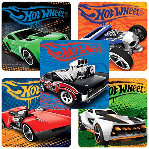 (Classic Hot Wheels153; Stickers - Birthday Party Supplies & Favors - 100 Per)