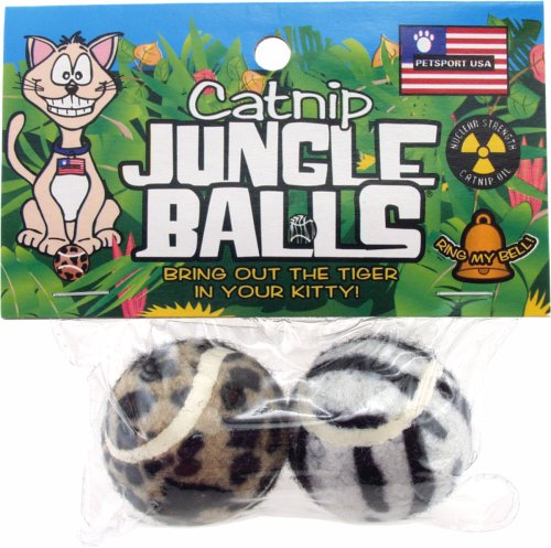 Petsport Catnip Jungle Balls 2 Pack (Cat Petsport Balls)