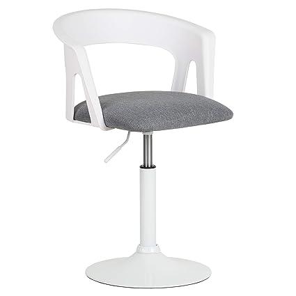 Hartleys Chaise De Bureau Pivotant Blanc Gris Amazon Fr Cuisine