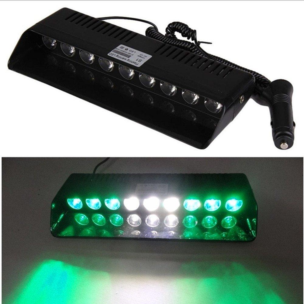 Viktion 6W 9 LEDs Feux de Pénétration Lumière Stroboscopique Eclairage Clignotant à 13 Modes pour Voiture Camion véhicule SUVDC 12V (Blanc)