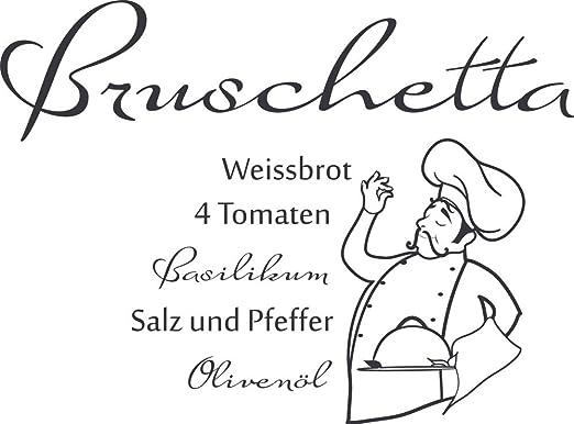 GRAZDesign Sprüche für die Küchenwand Bruschetta - Tattoo ...