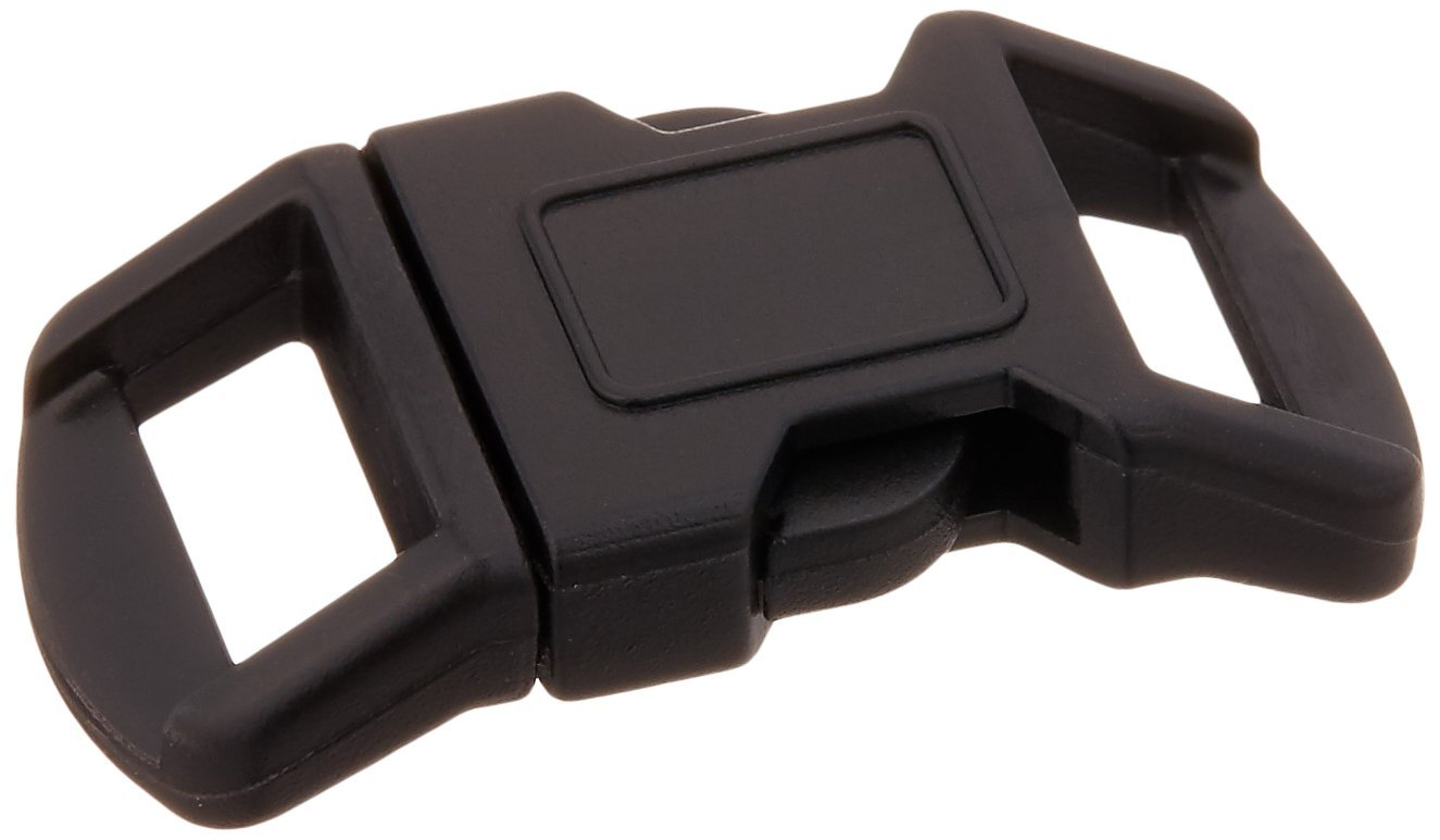 Pepperell PCBUCK3012 Parachute Cord Buckles (30 Pack), 12mm, Black