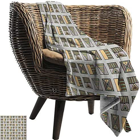 Sunnyhome Tribal,Digital Printing Blanket,Ancient Egyptian Folkloric Geometric Motifs with Triangles and Stripes Boho Culture 60