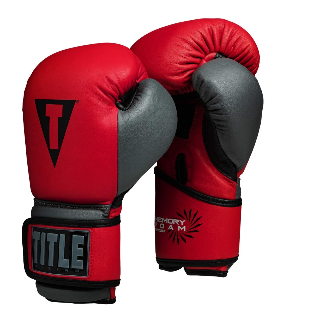 タイトルボクシングメモリーフォームトレーニンググローブ B07H7VSJRT レッド/ブラック 14 oz