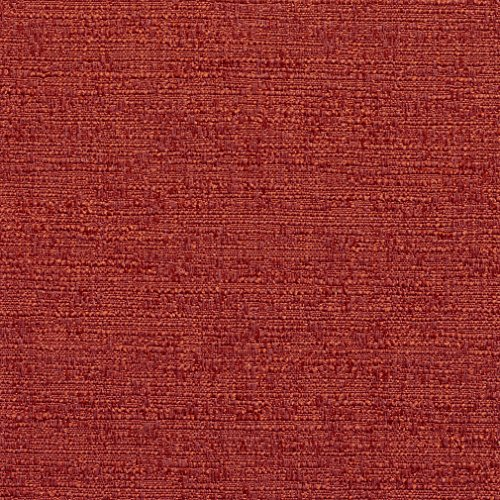 A0190C Red Textured Woven Upholstery Fabric By The Yard