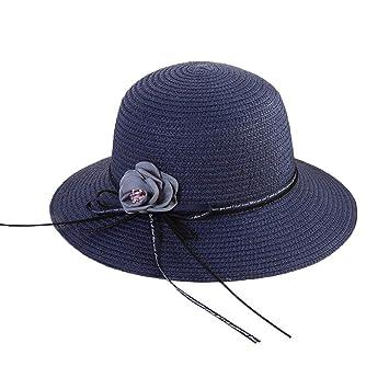 Amazon.com  Suma-ma 5 Color Women s Beach Straw Hat Jazz Sunshade ... 8640c3079f72