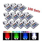 CO-Z Bright 16-color Changing 9W E27 RGB LED Light Bulbs with Remote Control 100-240V AC for Holiday Chirsitmas Party (3W 100PCS)