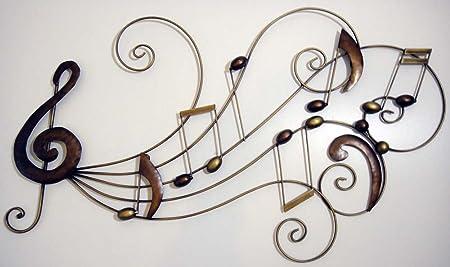 Wall Art - Metal Wall Art - Music Scroll Notes Score: Amazon.co.uk ...