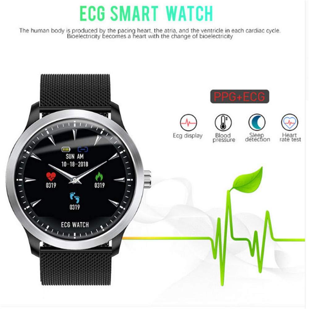Amazon.com: QEAC Smart Watch Electrocardiograph ECG Display ...