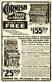 1902 Ad Cornish Pianos Organ Washington New Jersey Musical Instrument Play Stool - Original Print Ad
