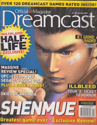 Dreamcast Official Magazine (Shenmue - Greatest Game Ever? Excluse Review, Skies of Arcadia, Massive Review Special: UFC, ECCO, WWF, Sega GT, Rush 2049, Illbleed, Multiplayer Half-Life Exclusive!, Issue 8, November 2000)