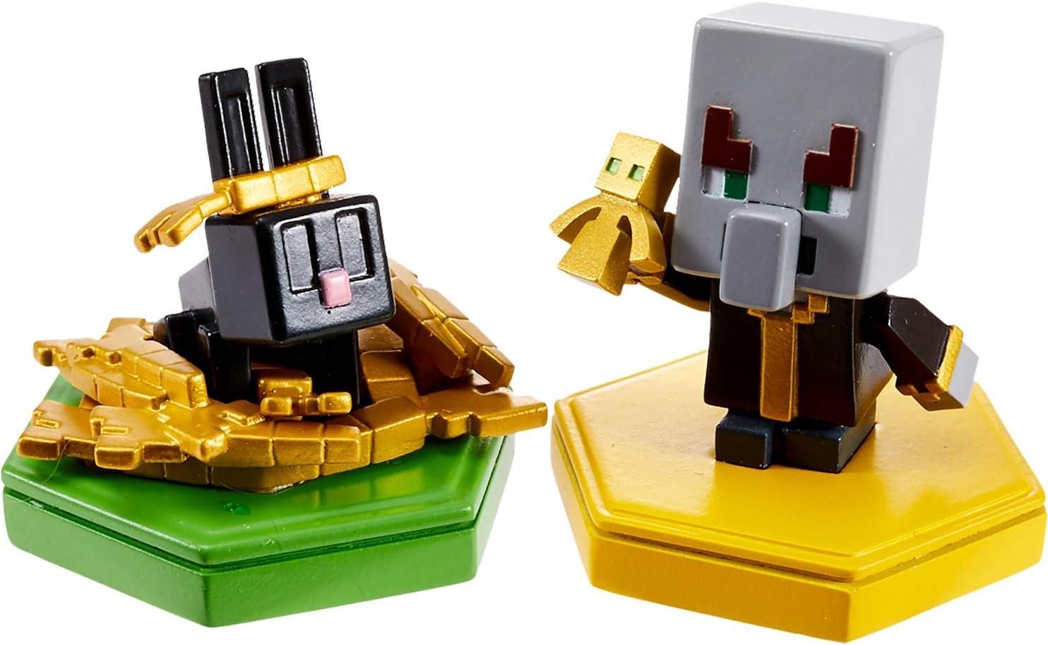 Minecraft Boost Pack de 2 Minifiguras Evoker y Rabbit (Mattel GKT44): Amazon.es: Juguetes y juegos