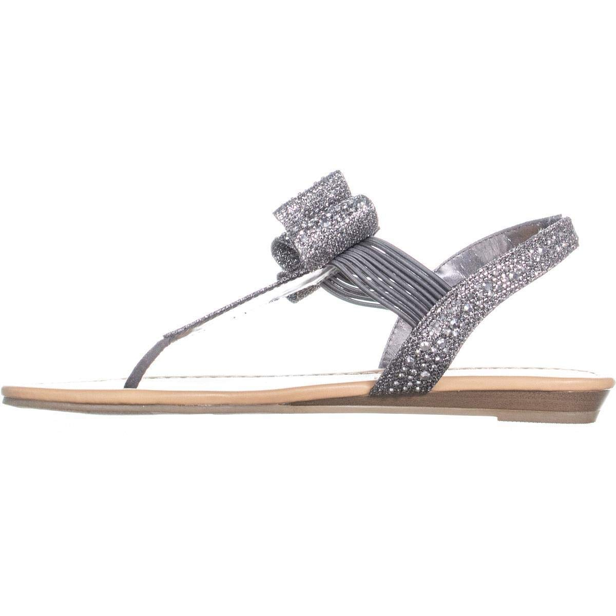 b05cb43221f Amazon.com  Material Girl Womens Shayleen Open Toe Casual Slingback Sandals   Shoes
