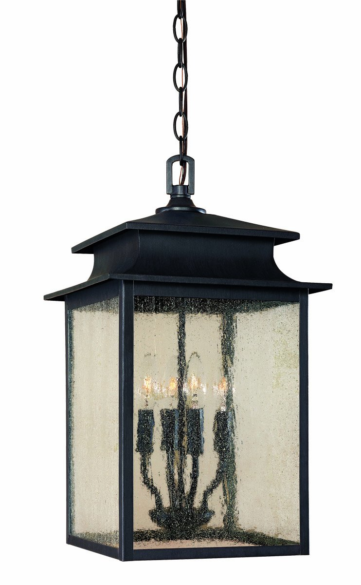 World Imports 9108-42 Sutton Collection 4-Light Hanging Outdoor Lantern, Rust by World Imports