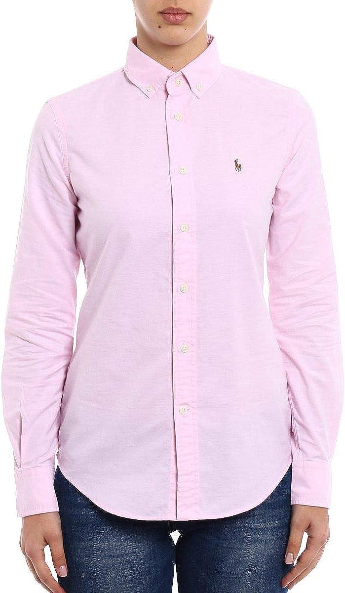 Ralph Lauren NGL Kendal-Long Sleeve-Shirt Camisa, Rosa, 10 para ...