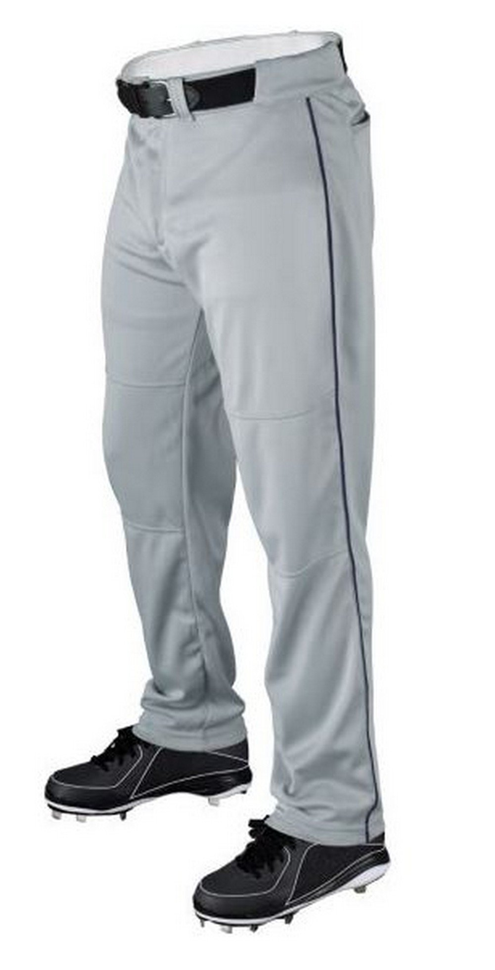 Wilson Youth Classic Relaxed Fit Piped Baseball Pant, Grey/Navy, Large by Wilson