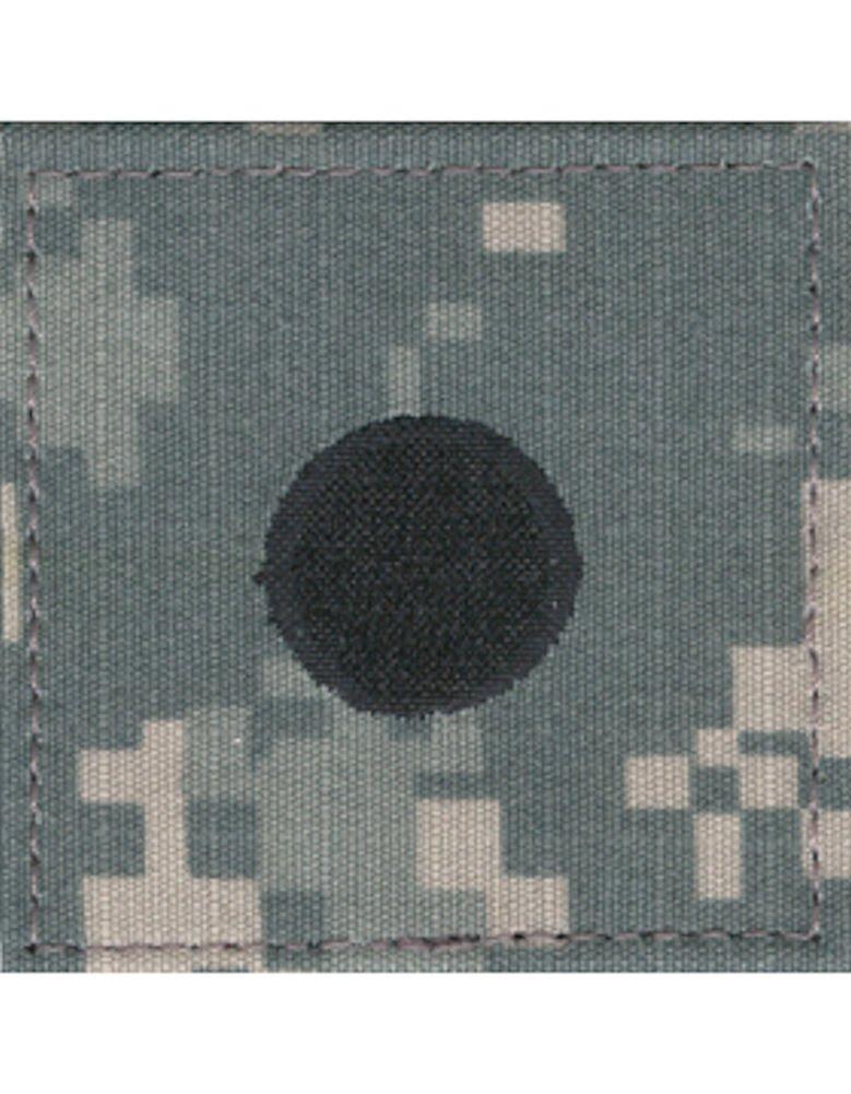 Army ROTC Rank with HOOK Fastener - ACU DIGITAL (Cadet - 2LT (Large Dot))
