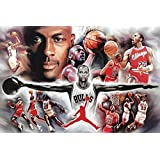 Poster Michael Jordan Collage (152,5cm x 101,5cm)