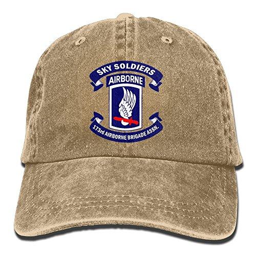 HANWILD Army 173rd Airborne Brigade Logo - Adult Adjustable Retro Cowboy Dad Hat
