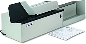 "Martin Yale 62001 Deluxe High-Speed Letter Opener, Gray, Up To 17,500 Envelopes per Hour, Accepts a 6"" Tall Stack of Envelopes, 500,000 per Month Capacity"