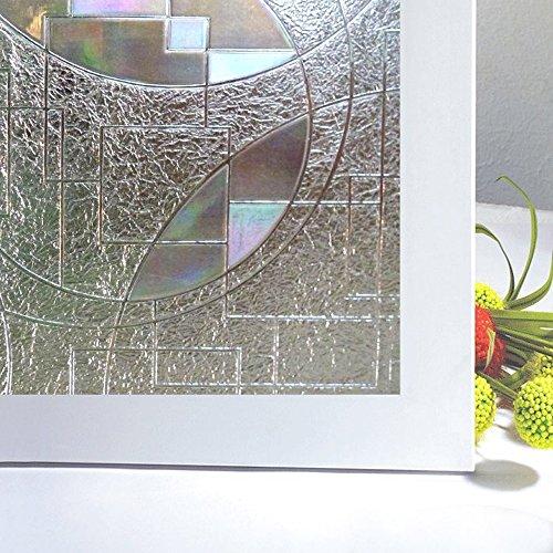 Rabbitgoo® Superior No-Glue 3D Static Illuminative Privacy Window Films,23.6In X 78.7In.(60 x 200Cm)