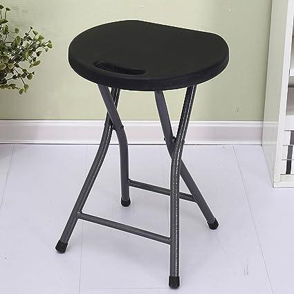 LFFYIZI HJHY® sillas Plegables Banco Redondo de plástico ...