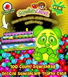 Glow in the Dark Jungle Collection 100 Count SqwishBag + Official SqwishLand Trophy Case