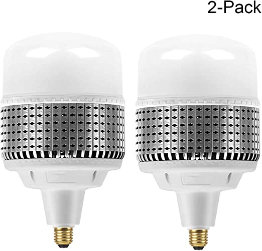 Bombilla LED E27 80W LED Bombilla Luz Blanca Fría 6500K, 800W Incandescente Bombillas Equivalentes 8000Lm No Regulable, (2 Pack): Amazon.es: Iluminación